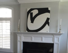 Black Circle Abstract