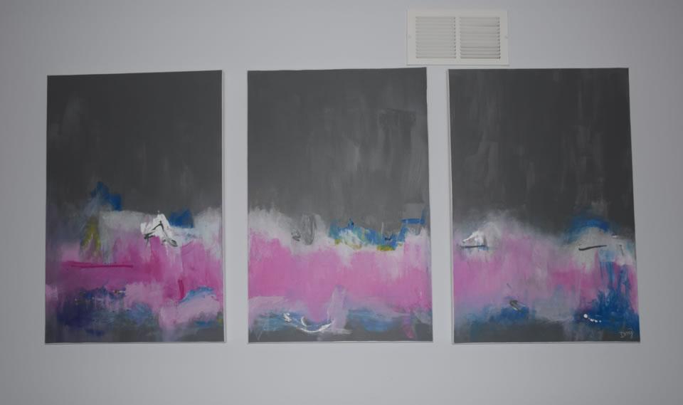 Gray-Pink Panels
