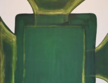 Green Gold Abstract