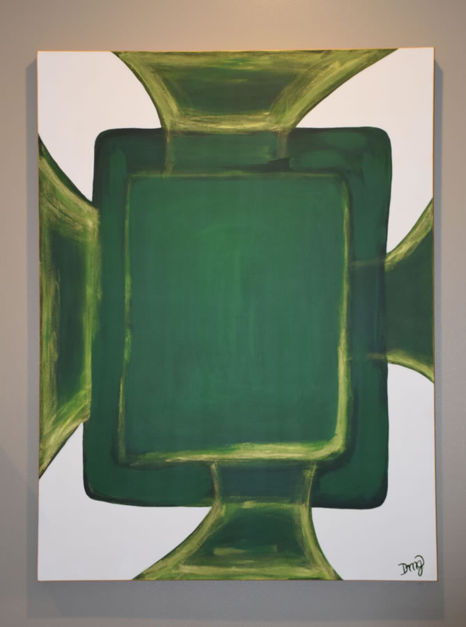 Green-Gold Abstract