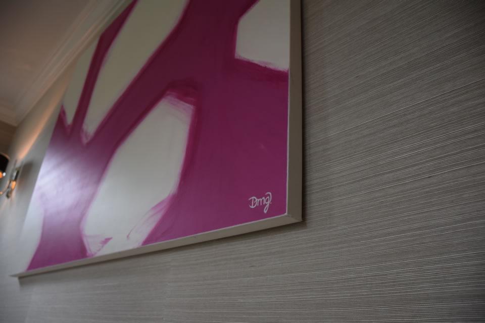 Hot Pink Abstract 2
