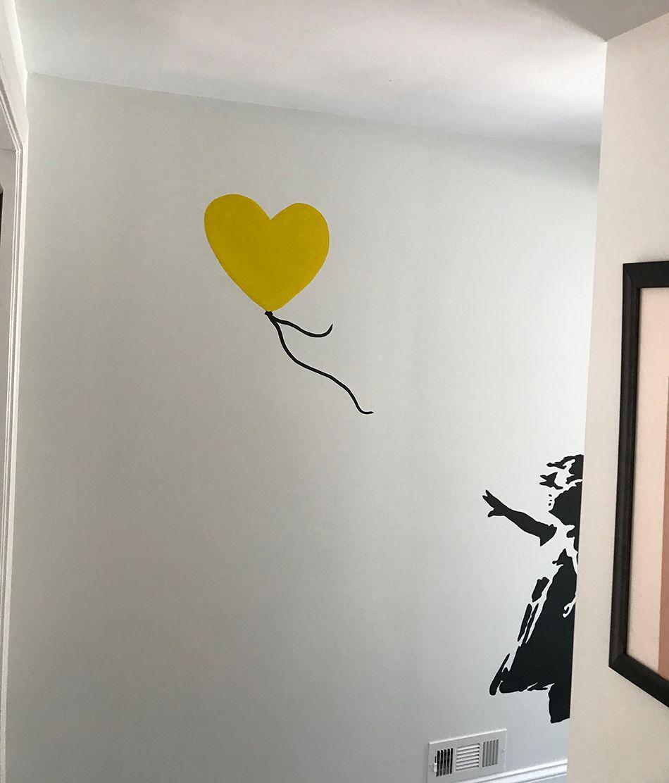 Girl on wall 2