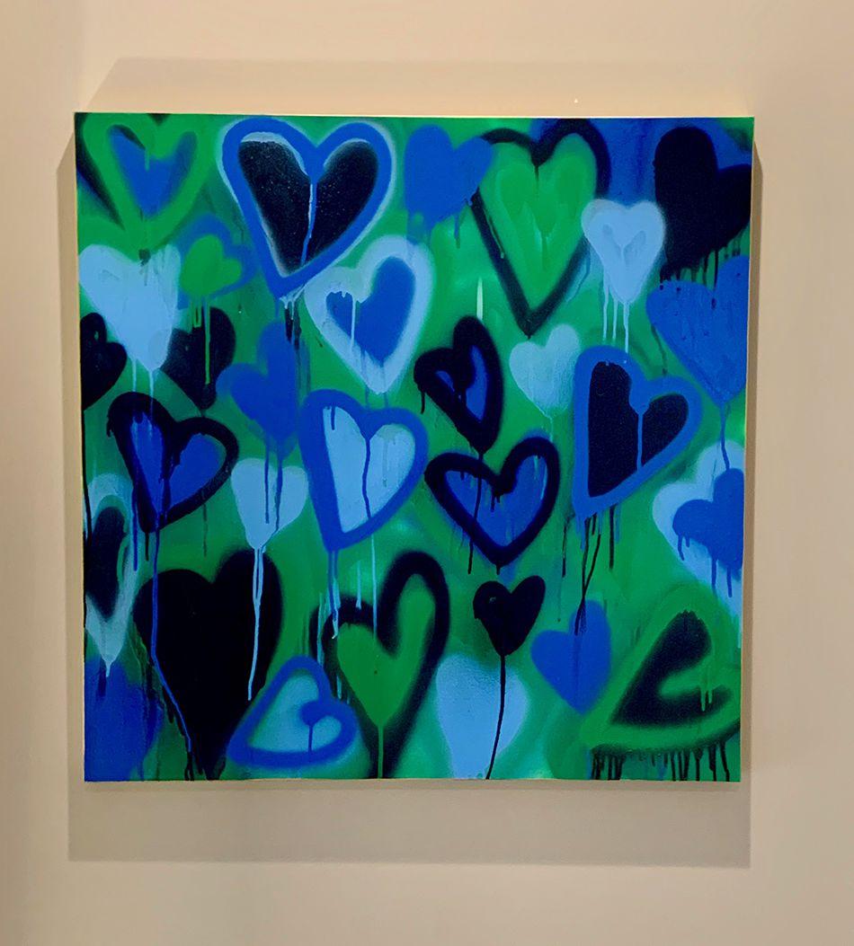 Hearts 2 Blue Green